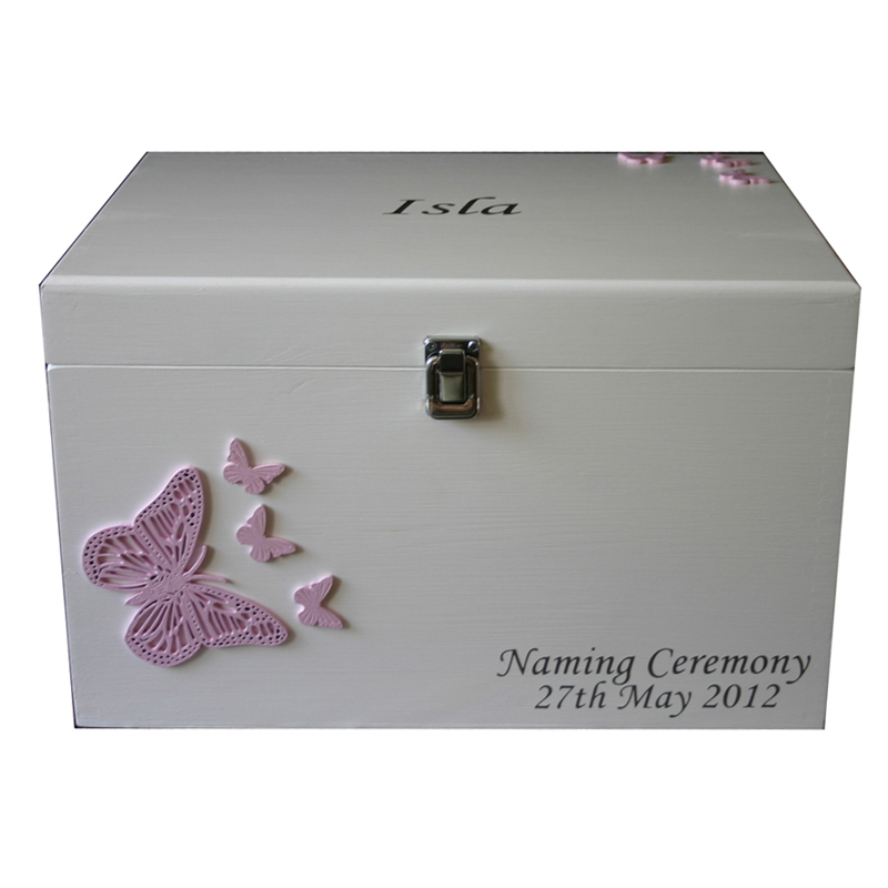baby keepsake boxes for boys girls xl personalised with. Black Bedroom Furniture Sets. Home Design Ideas