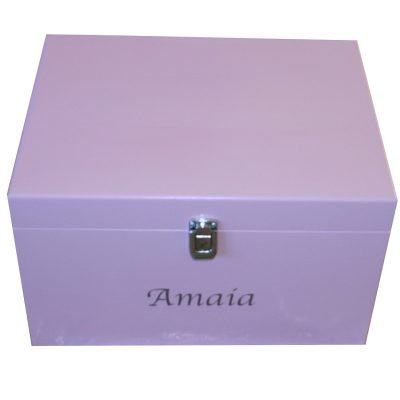 Lockable Lilac Extra Large Keepsake Boxes for girls