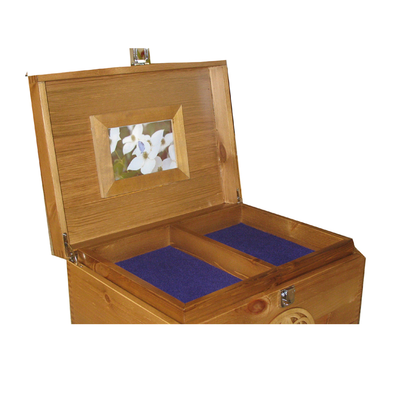 XL Rustic Pine Keepsake Boxes with Frame