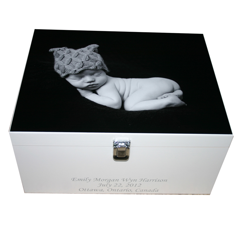 Photo On a wooden keepsake box