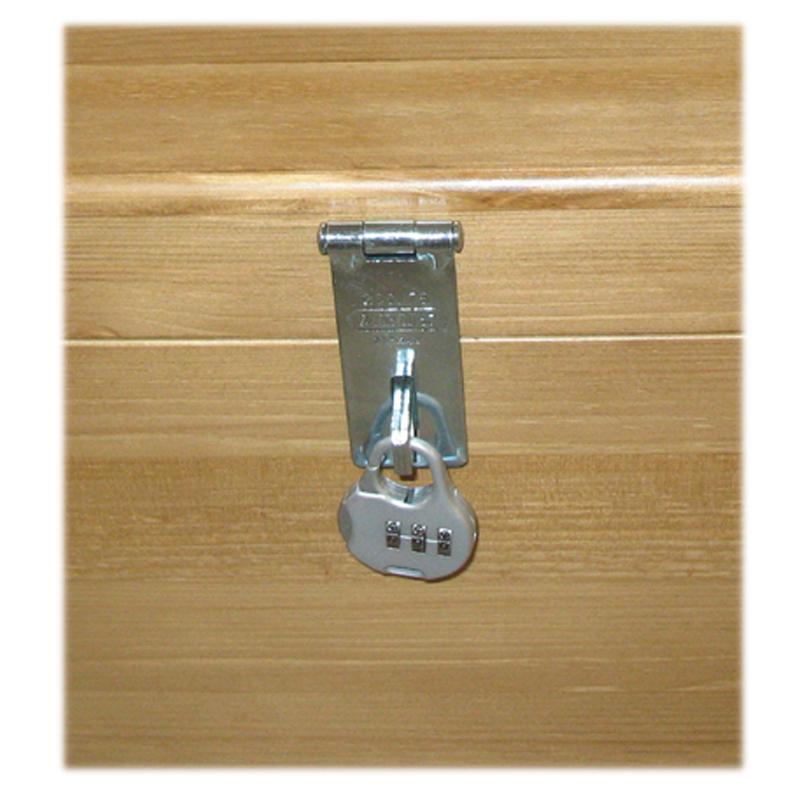 Silver tone Hasp & staple/combination padlock