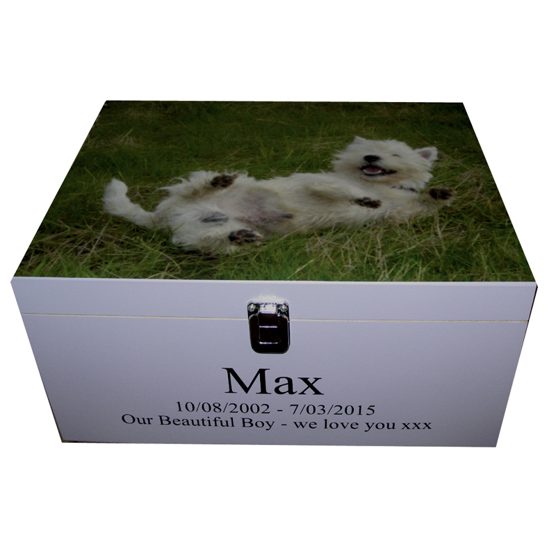Pet Memory Box with photo on the lid