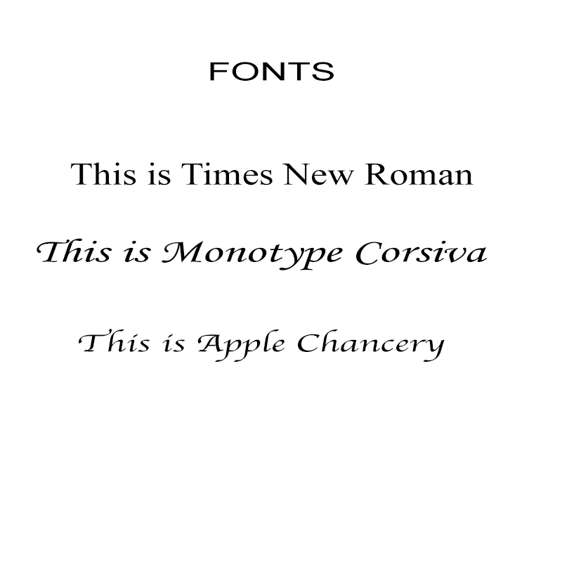 Fonts for boxes