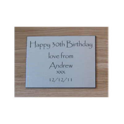 Engraved Message Plate