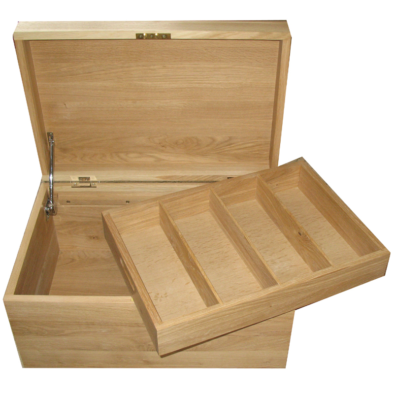Solid Oak Memory Storage Box with Mortice Lock - 13mm
