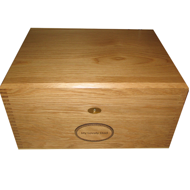 Solid Oak Memory or Keepsake Boxes with tray