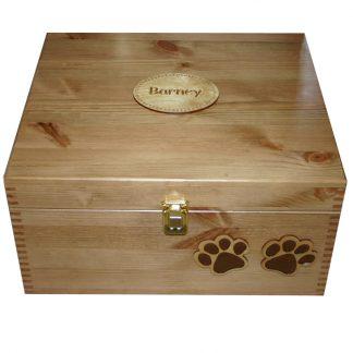 Large Size 35x30x18cm Read Wood Pet Memory Boxes