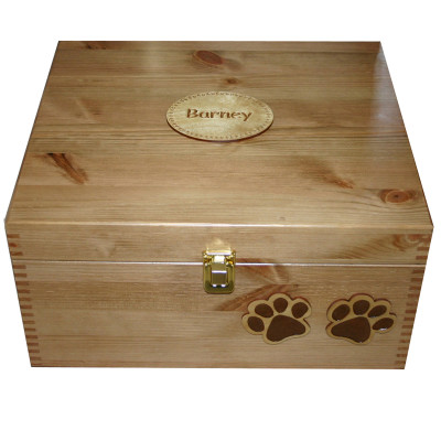 Large Size 35x30x18cm Read Wood Pet Memory Boxes
