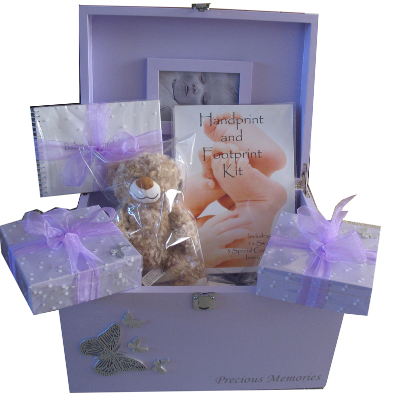Baby gift keepsake box : Wooden xl baby keepsake boxes gift sets with silver