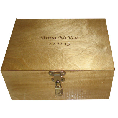 Limewood Engraved A4 StorageBox for Memories