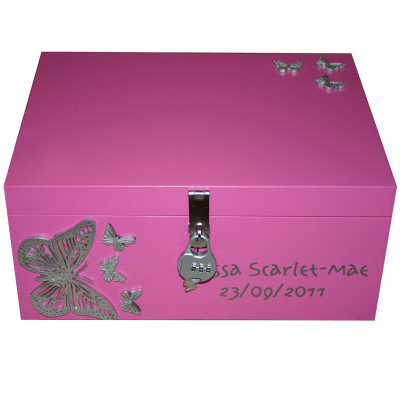 Girls Pretty Wooden Personalised Keepsake Boxes