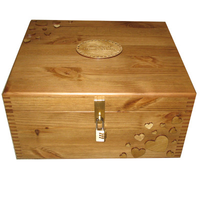 Pine Wooden Large Memory Storage Boxes