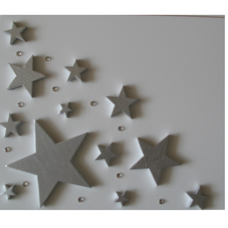 Silver Stars with crystals between them