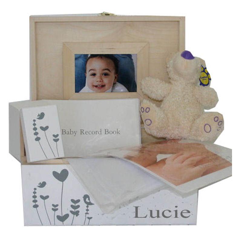 Personalised Baby Gifts Keepsake Boxes : Personalised unisex baby gift hamper with keepsake boxes