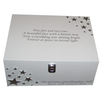 Bereavement Memory Box with Poem on the lid