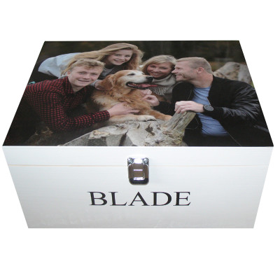 Photo on a Wooden Memory or Keepsake Box