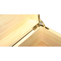 Natural Pine Box Brass tone quadrant hinges on Natural Pine (Lighter colour) Box