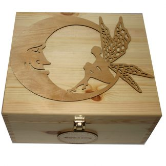 Natural Large Keepsake Box with Large Moon and Fairy