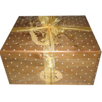 Gift Wrapped Large Rustic Keepsake Box with Mythical Dragon