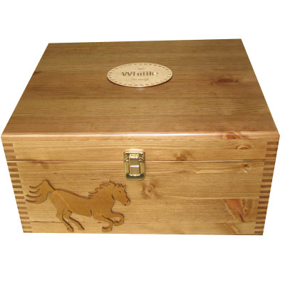 Personalised Wooden Gift Memory Boxfor a Horse Lover