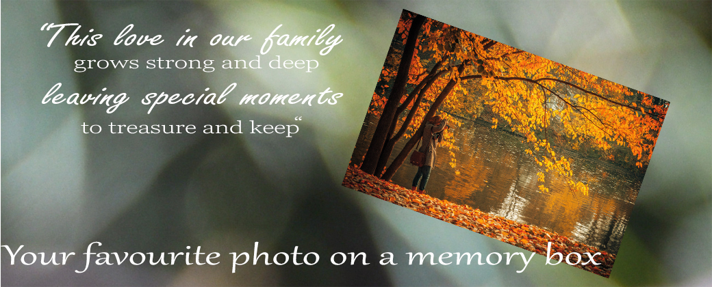 Photo on a wooden keepsake box