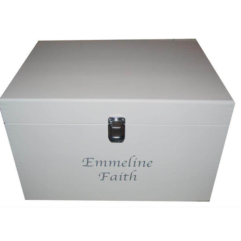 Extra Large Wooden Memories Keepsake Boxes Personalised