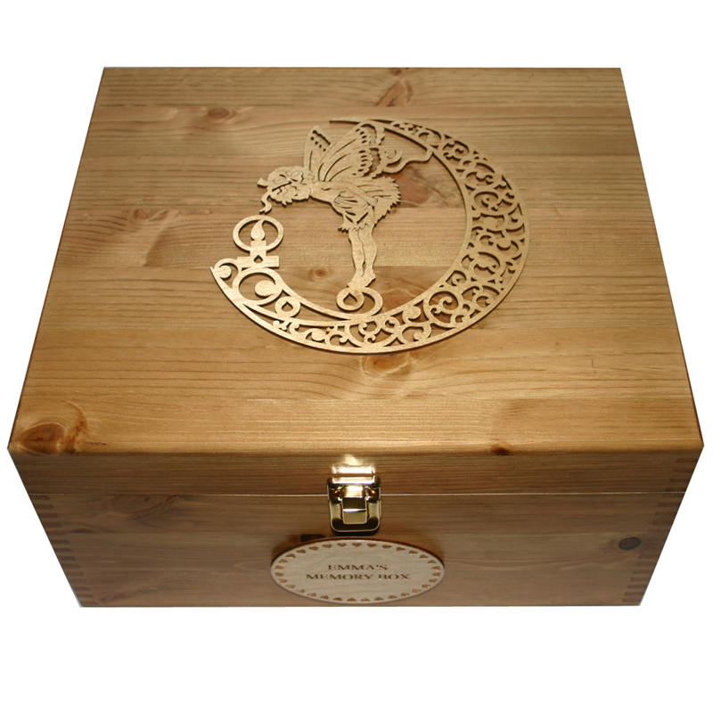 Girls Rustic Keepsake Boxes With Fairy And Candle
