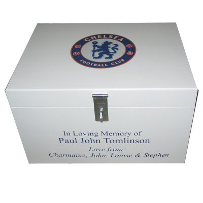 Football Theme Wooden Memory Box Personalised