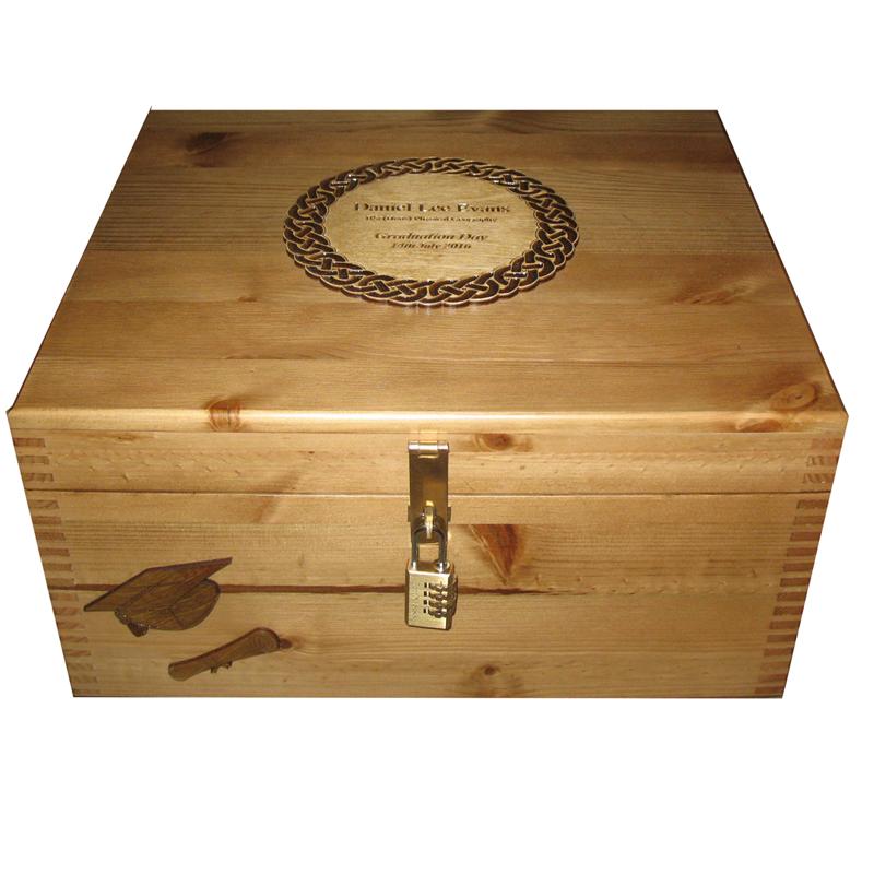 Personalised Large Wooden Graduation Keepsake Box