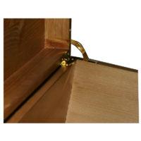 Rustic Pine Brass Quadrant Hinges