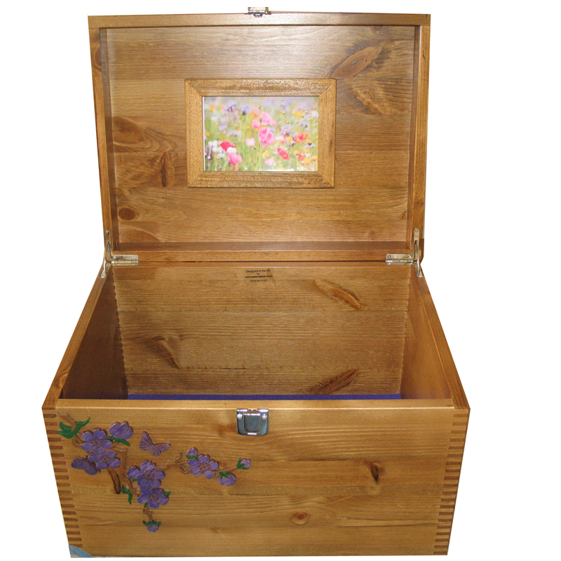 Decorative Boxes Uk: Extra Large Personalised Decorative Wooden Boxes- Wash Of