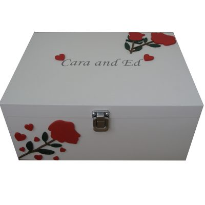 Keepsake Boxes for couples - Roses & Hearts Gift for Valentines Day