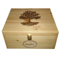 Large Keepsake Boxes Personalised Wooden Lacquered Tree of Life