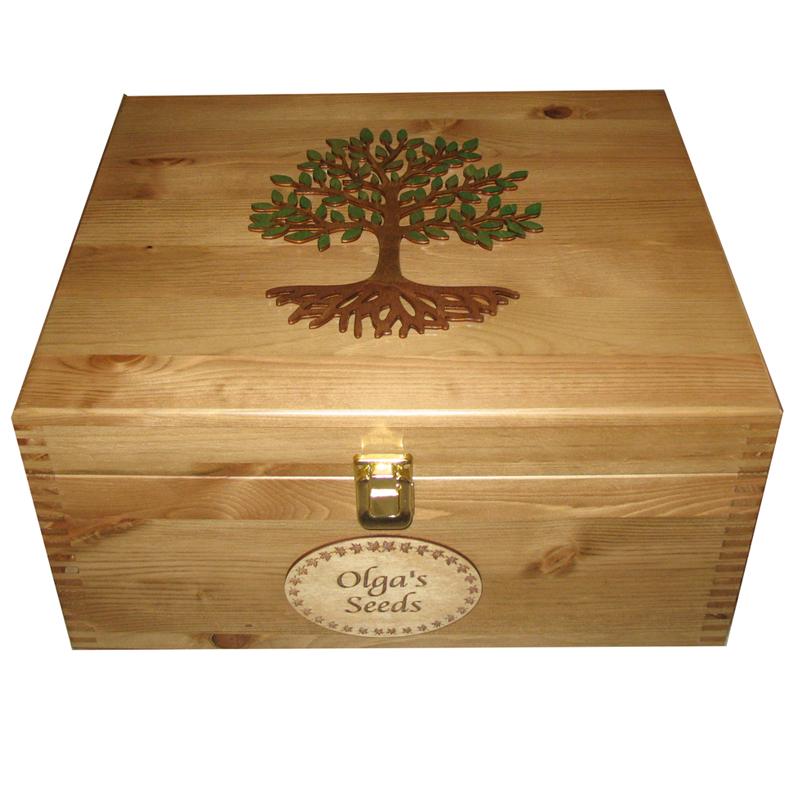 Large Lockable Keepsake Boxes Personalised Wooden Painted Tree of Life