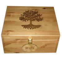 Pine Wooden Large Memory or Keepsake Boxes
