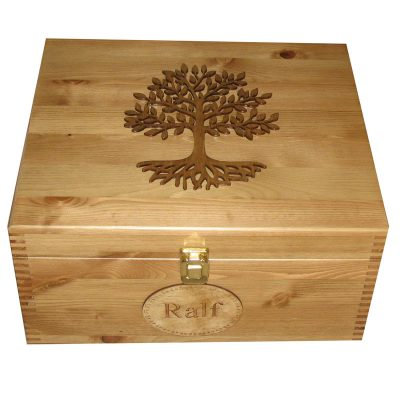 Pine Wooden Large Memory or Keepsake Boxes