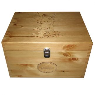 Personalised Wooden XL Memory Box for Memories Pixie Fairy