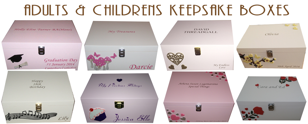 Adults & Childrens Keepsake Boxes