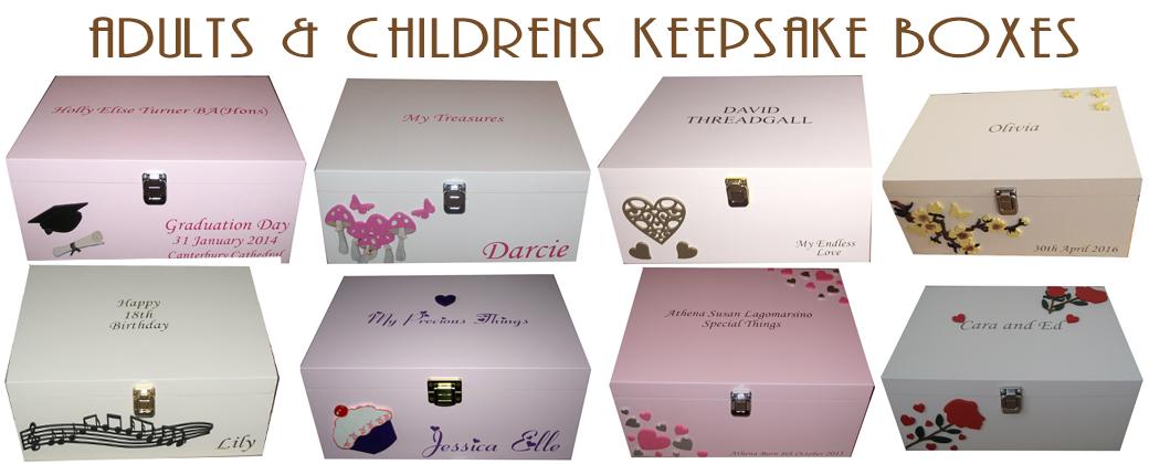 Adults & Childrens Keepsake Boxes