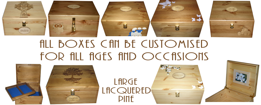 Large Natural Wood Boxes
