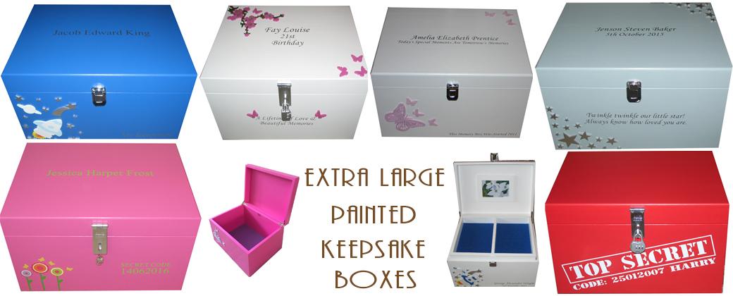XL Painted Keepsake Boxes