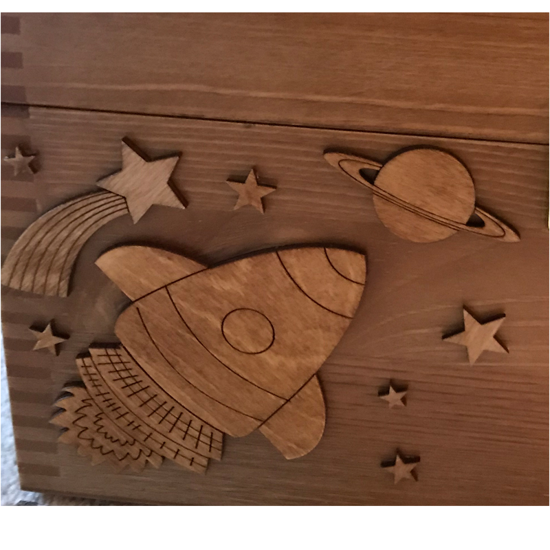 Keepsake Box Rocket and Stars