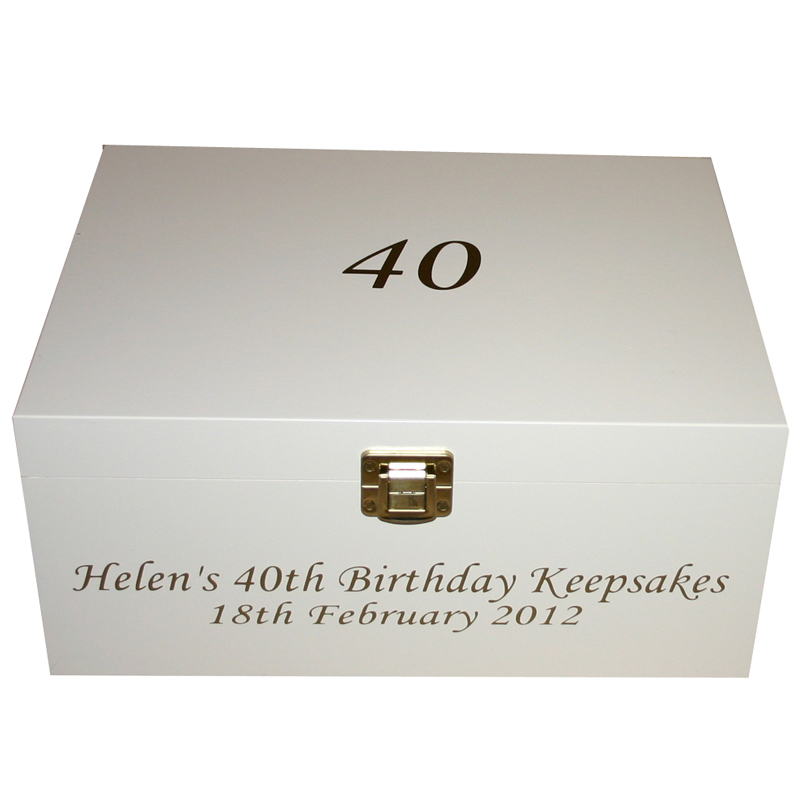 Keepsake Storage Box Personalised Birthday Boxes With Age 30th